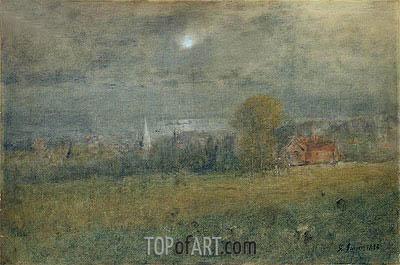 George Inness | Moonlight on Passamaquoddy Bay, 1893