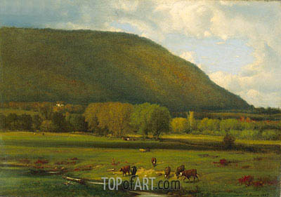 Hudson River Valley, 1867 | George Inness| Painting Reproduction