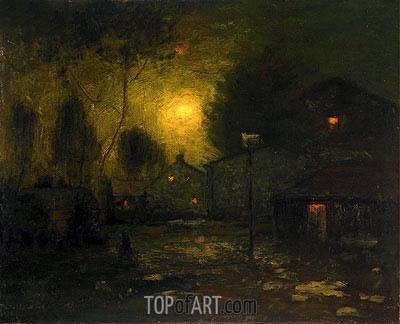 George Inness | Moonlight, 1893