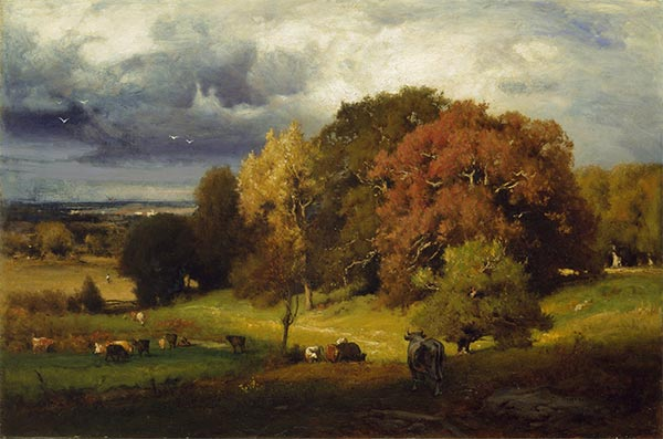 Autumn Oaks, c.1878 | George Inness | Gemälde Reproduktion