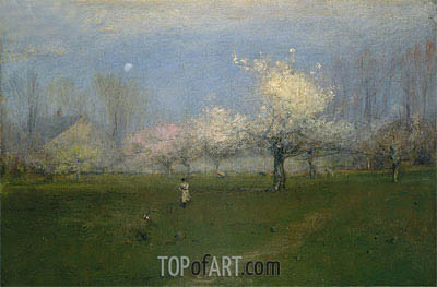 Spring Blossoms, Montclair, New Jersey, c.1891 | George Inness | Gemälde Reproduktion