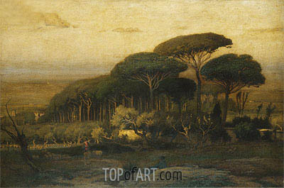 Pine Grove of the Barberini Villa, 1876 | George Inness | Painting Reproduction