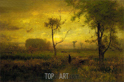 Sunrise, 1887 | George Inness | Gemälde Reproduktion