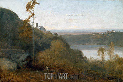 George Inness | Lake Nemi, a.1874