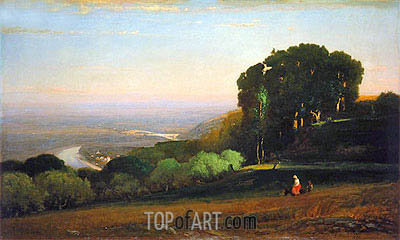 View of the Tiber near Perugia, c.1872/74 | George Inness | Gemälde Reproduktion