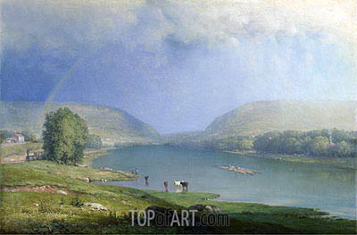The Delaware Water Gap, a.1857 | George Inness | Painting Reproduction