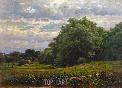 Harvest Time, 1861 | George Inness| Painting Reproduction