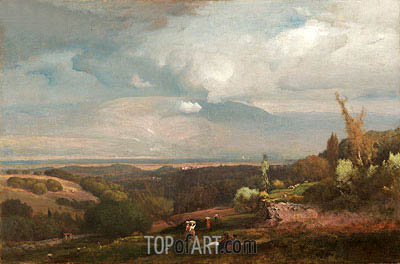 Approaching Storm from the Alban Hills, 1871 | George Inness | Gemälde Reproduktion