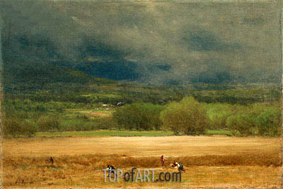 The Wheat Field, c.1875/77 | George Inness| Painting Reproduction
