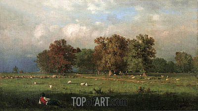 Durham, Connecticut, 1858 | George Inness| Painting Reproduction