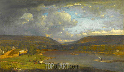 On the Delaware River, c.1861/63 | George Inness| Gemälde Reproduktion