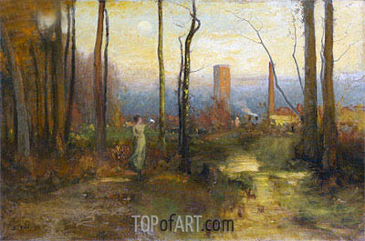 The Mill Stream, Montclair, New Jersey, c.1888 | George Inness | Painting Reproduction