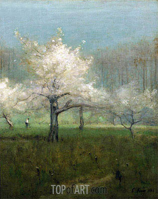 Apple Blossom Time, 1883 | George Inness | Painting Reproduction