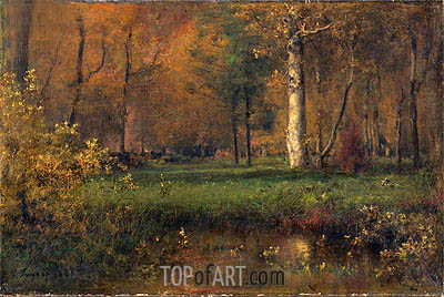 George Inness | Landscape with Yellow Bushes, 1865