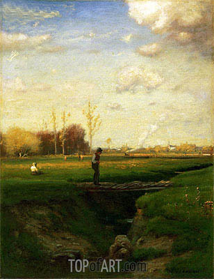 George Inness | Short Cut, Watchung Station, New Jersey, 1883