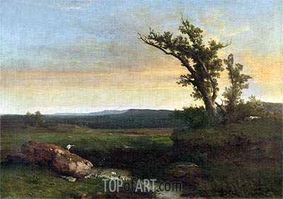Twilight on the Campagna, c.1851 | George Inness | Painting Reproduction