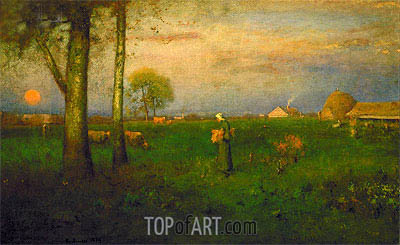 George Inness | Sundown, 1884