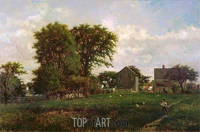 George Inness | Massachusetts Landscape, 1865