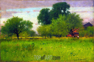 Apple Orchard, 1892 | George Inness | Gemälde Reproduktion