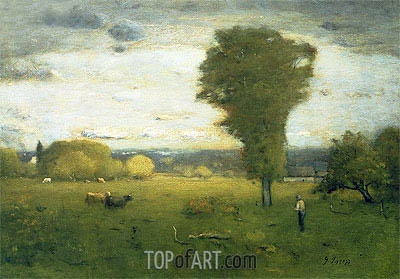 Sunlit Pasture,  | George Inness | Painting Reproduction