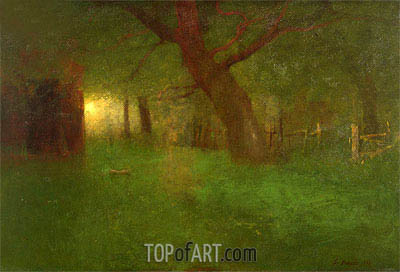 Sunset in the Old Orchard, 1894 | George Inness| Painting Reproduction