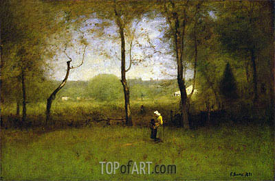 Wood Gatherers, An Autumn Afternoon, 1891 | George Inness| Painting Reproduction