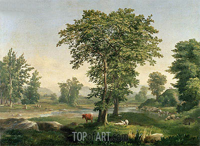 Landscape, 1846 | George Inness | Painting Reproduction