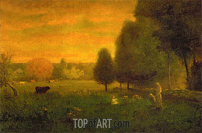 Sundown Brilliance,  | George Inness | Painting Reproduction