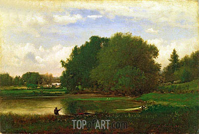 Landscape, 1860 | George Inness | Painting Reproduction