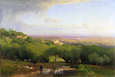 The Alban Hills, 1873 | George Inness | Painting Reproduction