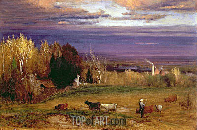 Sunshine After Storm or Sunset, 1875 | George Inness | Painting Reproduction