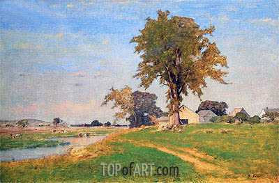 Old Elm at Medfield,  | George Inness | Gemälde Reproduktion