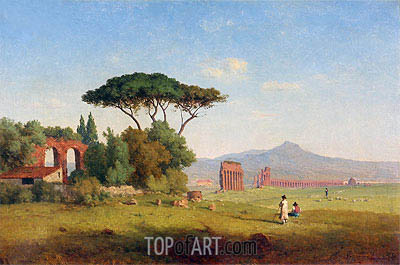 Roman Campagna, 1858 | George Inness | Painting Reproduction