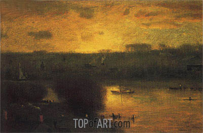 Sunset on the Passaic, 1891 | George Inness | Gemälde Reproduktion