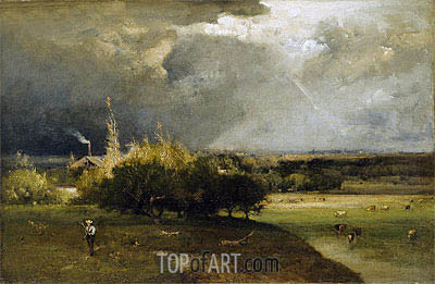 The Coming Storm, c.1879 | George Inness| Painting Reproduction