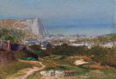 Etretat,  | George Inness | Painting Reproduction