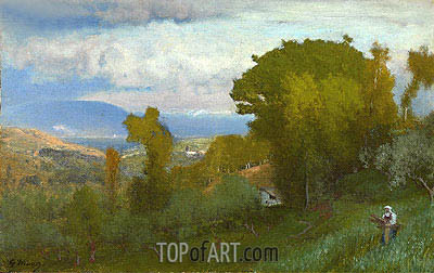 Albano, Italy,  | George Inness | Painting Reproduction
