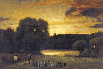 Slow Fading Day, 1880 | George Inness | Painting Reproduction