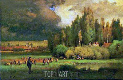 George Inness | Shepherd in a Landscape, c.1875