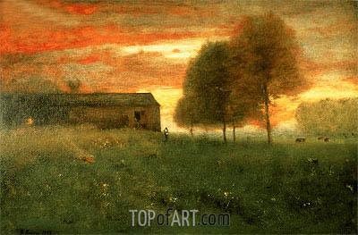 George Inness | Sunset, Montclair, 1892