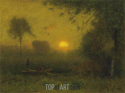 The Sun, 1886 | George Inness | Gemälde Reproduktion