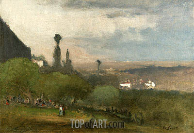 Monte Lucia, Perugia, 1873 | George Inness| Painting Reproduction