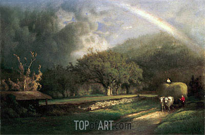 The Rainbow in the Berkshire Hills, 1869 | George Inness| Painting Reproduction