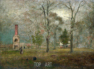 Grey day, Goochland, 1884 | George Inness| Painting Reproduction
