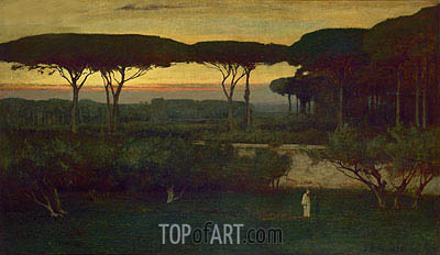 The Monk, 1873 | George Inness| Painting Reproduction