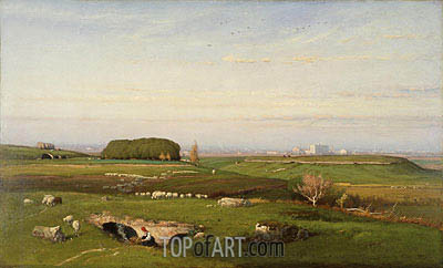 In the Roman Campagna, 1873 | George Inness| Painting Reproduction