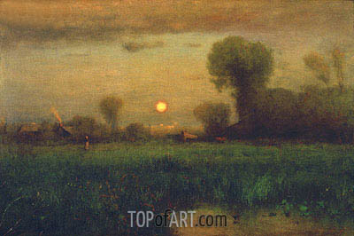 Harvest Moon, 1891 | George Inness| Painting Reproduction