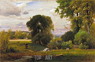 Landscape, 1877 | George Inness | Painting Reproduction