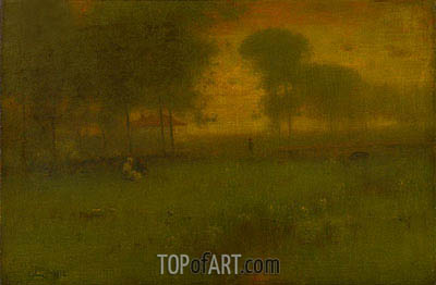 George Inness | Summer Evening, Montclair, New Jersey, 1892