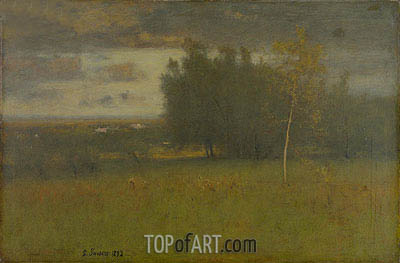 George Inness | The Valley on a Gloomy Day, 1892